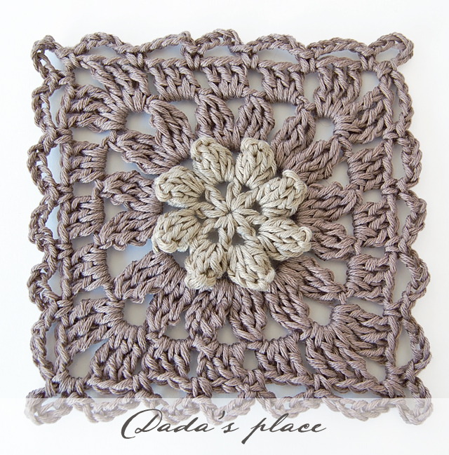 New Primavera flower granny square free pattern