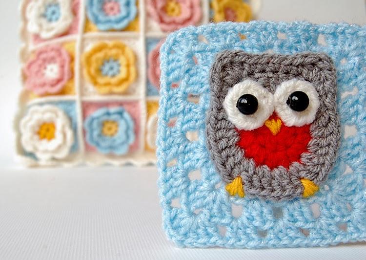 Owl granny square free pattern