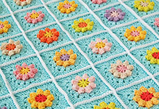 Primavera flower blanket tutorial