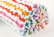 Rainbow Ruffle blanket
