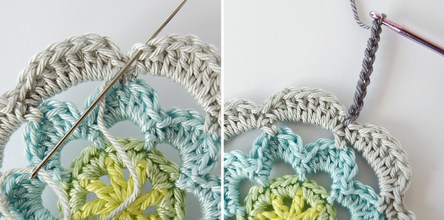 Step by step free crochet flower tutorial