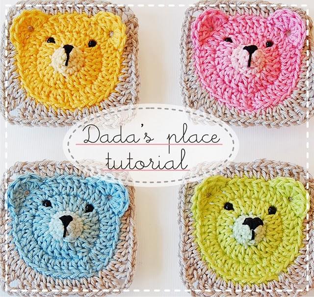 Teddy bear granny square