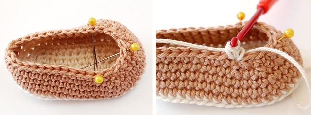 Tutorial step by step crochet baby booties
