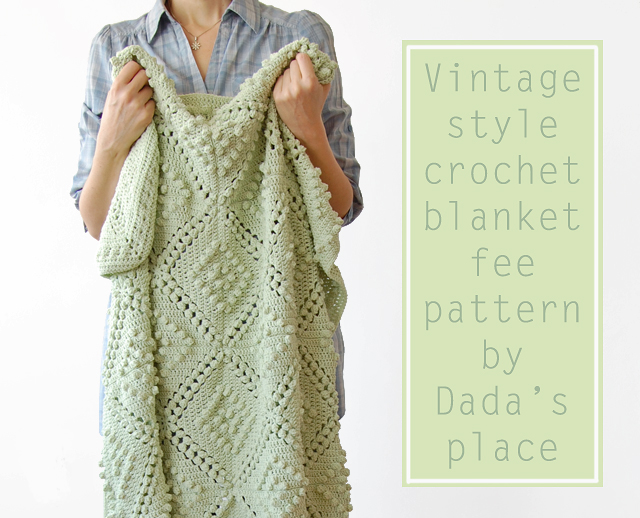 Vintage Chic Free Crochet Baby Blanket Pattern Manet For