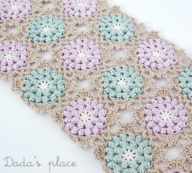 Vintage crochet granny square
