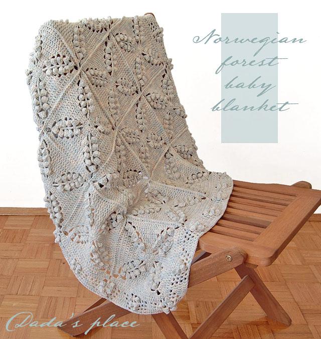 Vintage granny square crochet blanket pattern