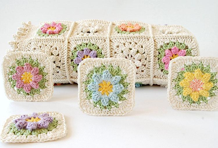 Primavera Flowers Granny Square Tutorial