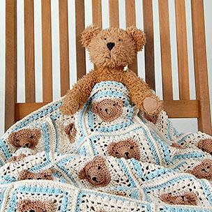 Vintage Teddy Bear Blanket