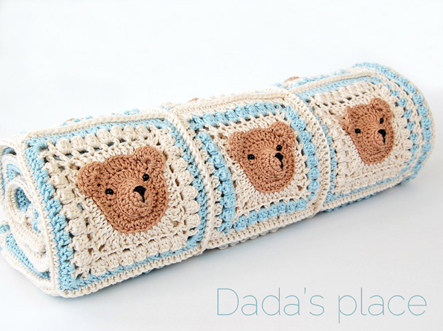Vintage Crochet Teddy Bear Baby Blanket Pattern