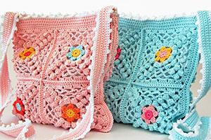 Boho-chic crochet bag