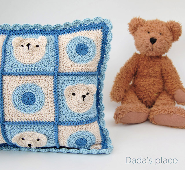 Handmade Teddy bear cushion
