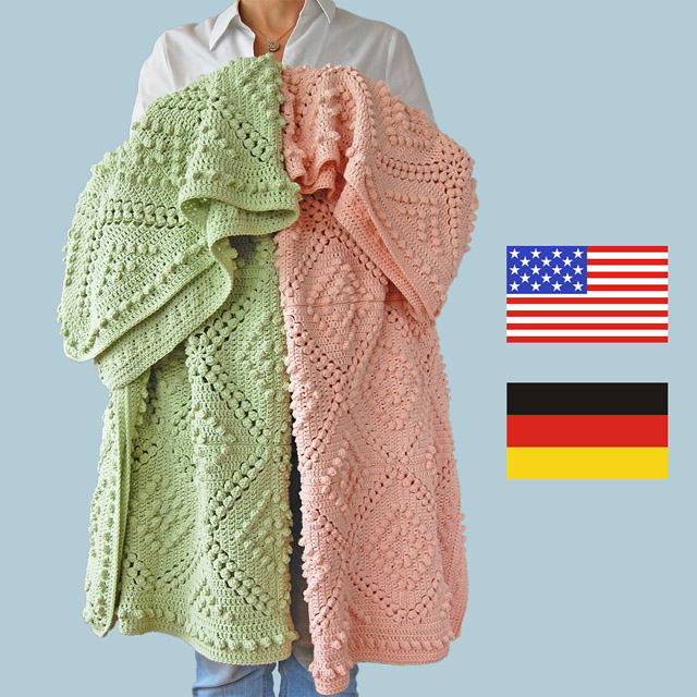 Fenya blanket pattern in German