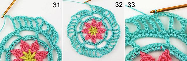 crochet mandala free step-by-step tutorial