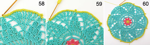 how to crochet doily free step-by-step tutorial by dadas place