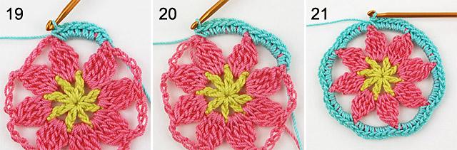 crochet doily step-by-step free tutorial