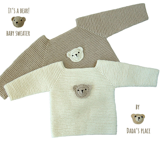 teddy bear crochet sweater pattern