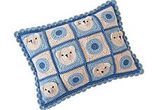 Crochet Teddy Bear Cushion