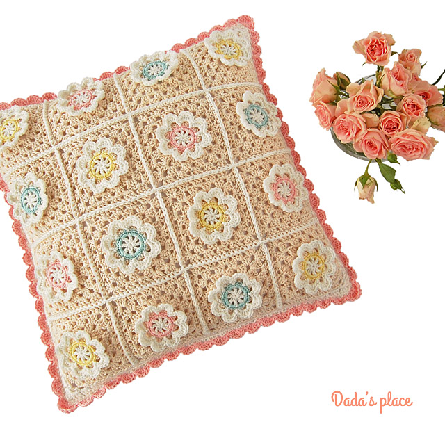 Florina crochet cushion pattern