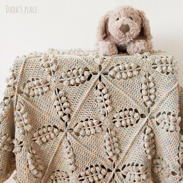 Free popcorn crochet blanket pattern