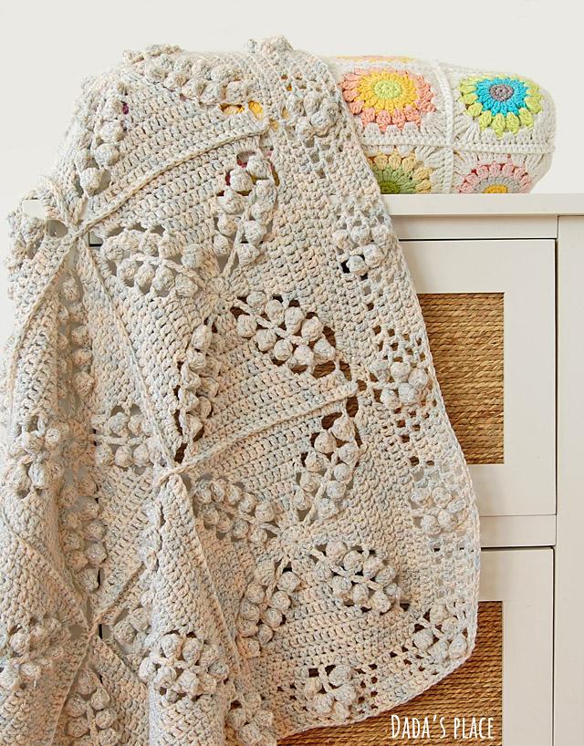 Free vintage style crochet blanket pattern