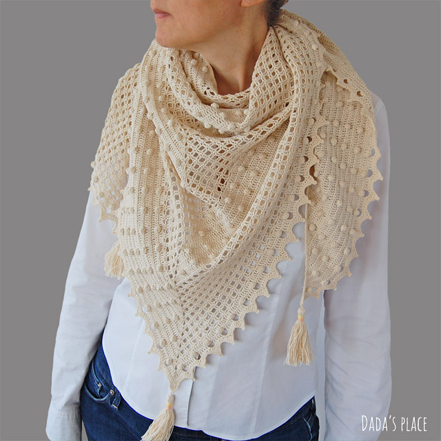 Awana shawl crochet pattern and step by step tutorial