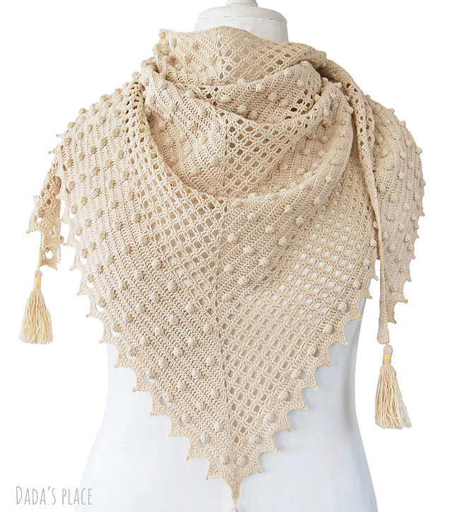 Awana summer crochet shawl pattern