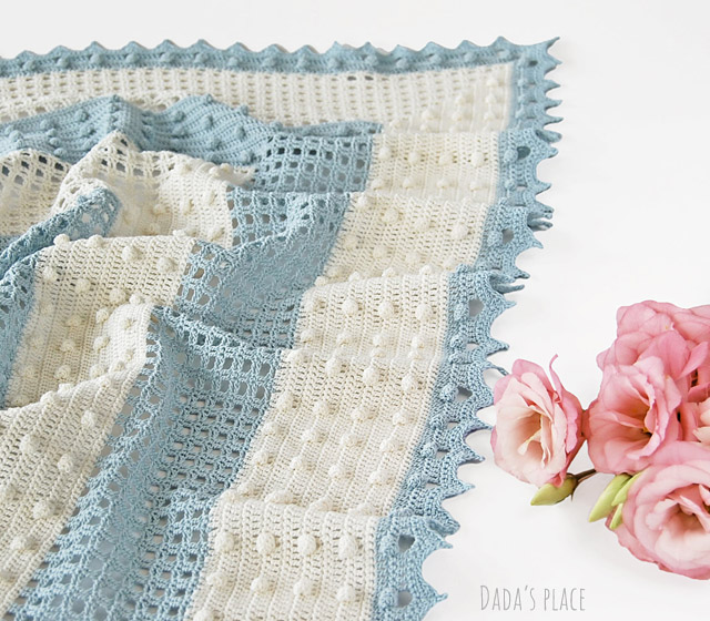 Crochet summer shawl pattern by dadas place
