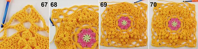 Dadas place free crochet blanket pattern 6