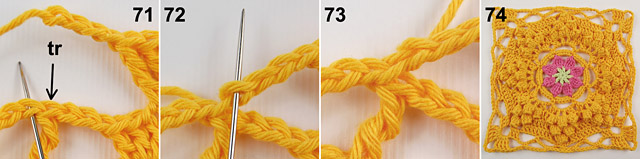 Dadas place free crochet blanket pattern 7