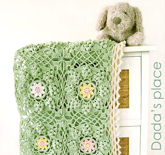 How to be a wildflower blanket free crochet tutorial