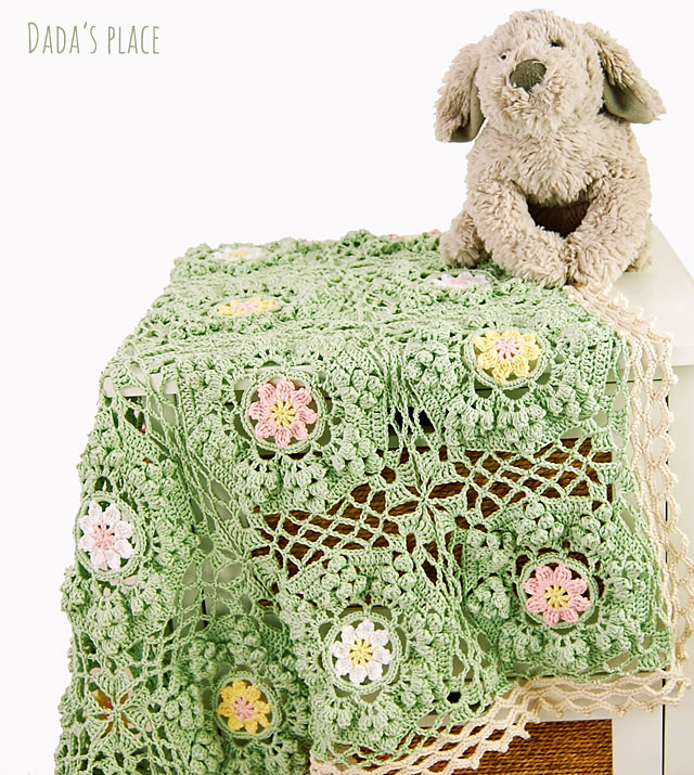 How to be a wildflower blanket free crochet pattern by dadas place