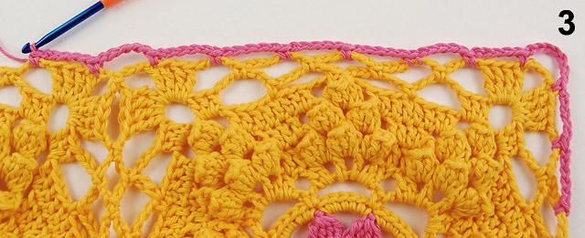Free crochet border tutorial by dadas place 2