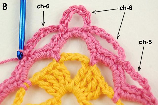 Free crochet border tutorial by dadas place 5