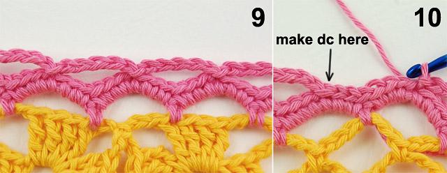 Free crochet border tutorial by dadas place 6