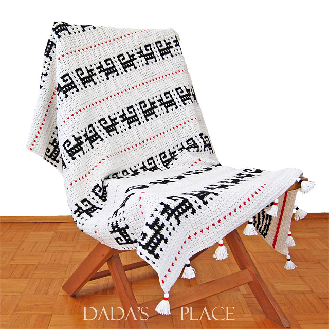 Mosaic crochet blanket pattern by Dadas place 2
