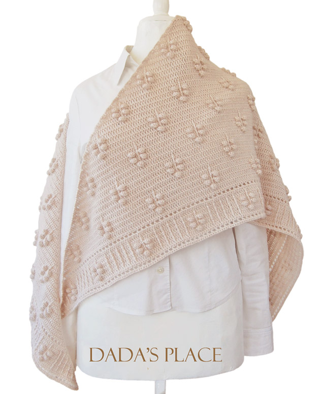 crochet shawl pattern by dadasplace