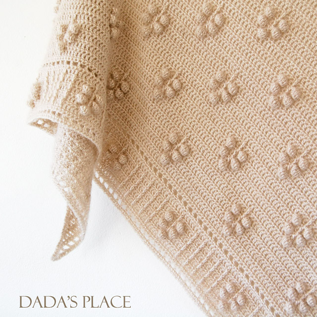 Weldy crochet shawl pattern by dadasplace