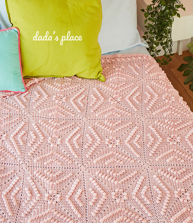 Crochet pattern - Menya blanket by dadas place