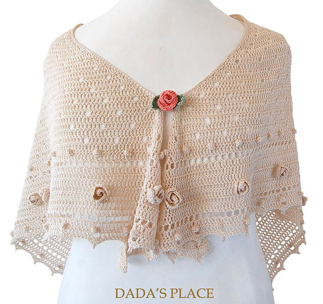 Crochet shawl pattern by dadas place