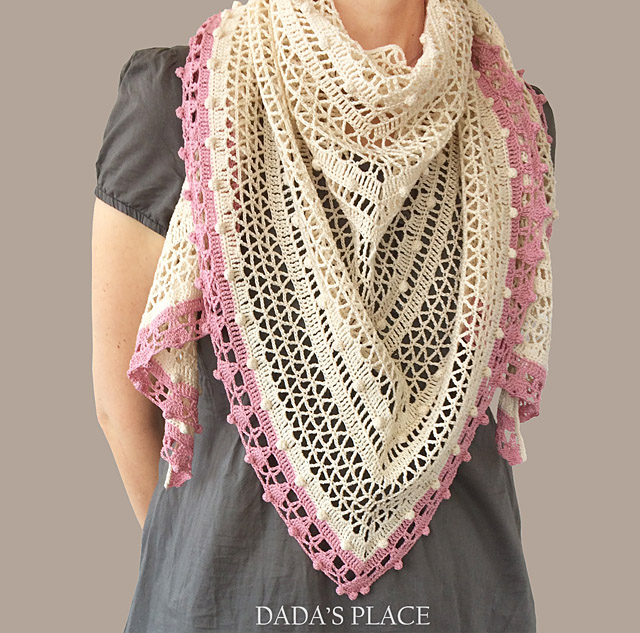 Lelia Shawl crochet pattern by dadas place 6