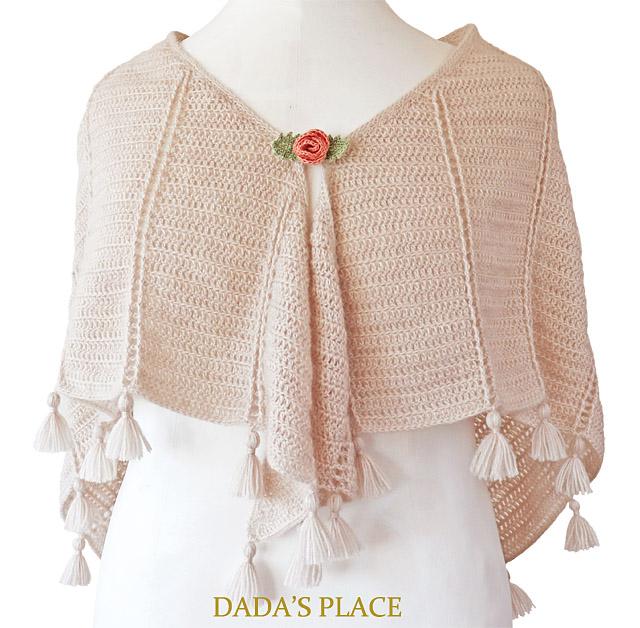 Al Amal crochet shawl pattern by dadas place 3