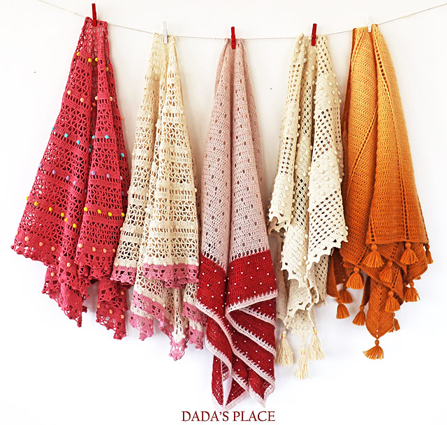 Crochet shawl patterns by dadas place