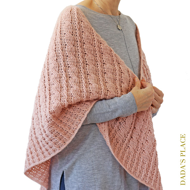 Crochet cable shawl pattern by dadas place 5
