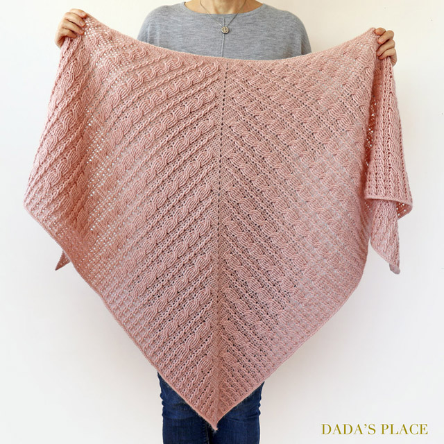 Crochet cable shawl pattern by dadas place 4