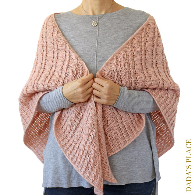Crochet cable shawl pattern by dadas place