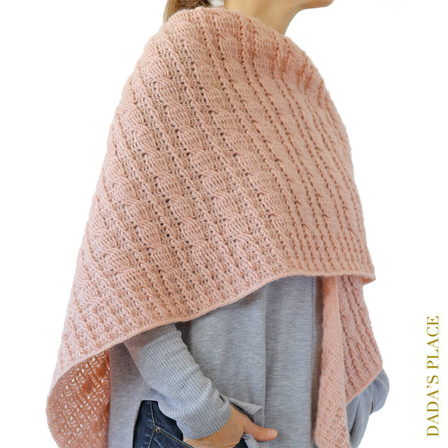 Crochet cable shawl pattern by dadas place 2