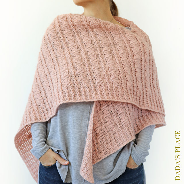 Crochet cable shawl pattern by dadas place 11