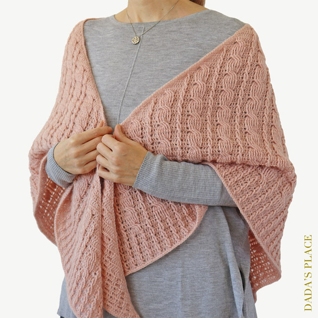 Crochet cable shawl pattern by dadas place 8