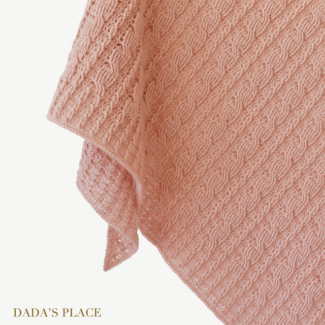Crochet cable shawl pattern by dadas place 6