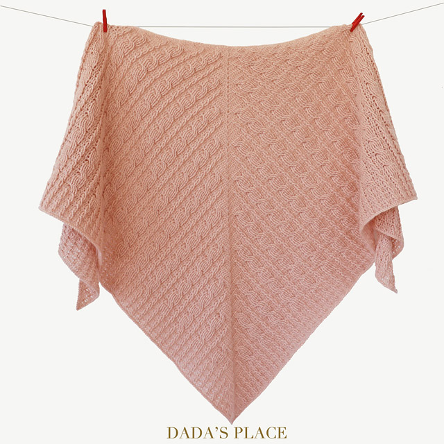 Crochet cable shawl pattern by dadas place 10